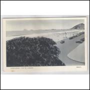 RJ43 - Cartão postal antigo, Praia de Copacabana. Carros. Rio de Janeiro. Lito-Tipo Guanabara.