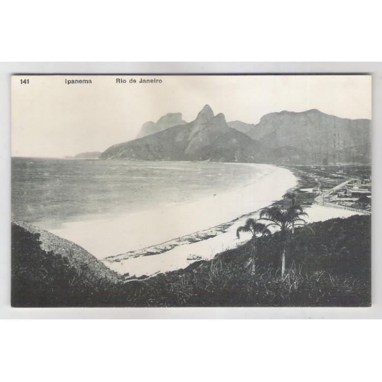 RJ47 - Cartão postal antigo, 141 Ipanema, Rio de Janeiro. A. Ribeiro.