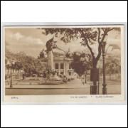 RJ51 - Cartão postal antigo, Praça Floriano, Rio de Janeiro. Lito-tipo Guanabara.