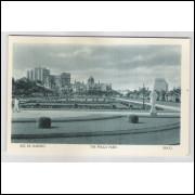 RJ53 - Cartão postal antigo, Praça Paris, Rio de Janeiro. Lito-tipo Guanabara.