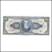 C029 - 100 Cruzeiros, 1943, 1a estampa, autografada, Valor Recebido, Soberba, Dom Pedro II.