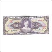 C092 - 50 Cruzeiros, 1960, 2a estampa, Valor Recebido, FE, Princesa Isabel.
