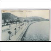 RJ70 - Cartão postal antigo, Avenida Beira Mar, Botafogo, Rio de Janeiro. A. Ribeiro.