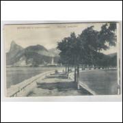 RJ78 - Cartão postal antigo, Botafogo e Corcovado, Rio de Janeiro.