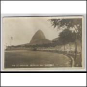 RJ79 - Cartão postal antigo, Avenida Ruy Barboza, Rio de Janeiro.