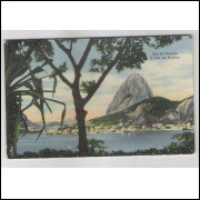 RJ80 - Cartão postal circulado em 1948, Pão de Açúcar, Rio de Janeiro. Erich Joachim Hess.