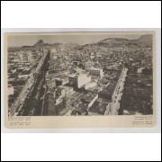 RJ83 - Cartão postal antigo, Panorama Rio de Janeiro. S.P. DEPARTAMENTO DE PROPAGANDA.