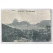 RJ84 - Cartão postal circulado 1926, Botafogo, Rio de Janeiro. A. C. da Costa Ribeiro.