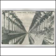 RJ87 - Cartão postal antigo, Avenida Mangue, Rio de Janeiro. A. C. da Costa Ribeiro.