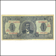 R079 Brasil 1 Mil Réis 12a estampa 1921 mbc/s. David Campista.