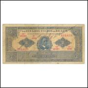 R086 Brasil 2 Mil Réis 13a estampa 1920 mbc. Joaquim Murtinho.