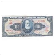 C036 - 100 Cruzeiros, 1964, 1a estampa, Valor Legal, s/fe, Dom Pedro II.