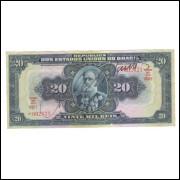 R119c Brasil 20 Mil Réis 16a estampa 1936 soberba. Deodoro da Fonseca