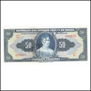 C024 - 50 Cruzeiros, 1943, autografada, 1a estampa, série 4, S+++ Princesa Isabel.