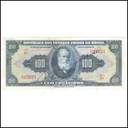 C029 - 100 Cruzeiros, 1943, autografada, 1a estampa, série 2a, mbc+, D.Pedro II