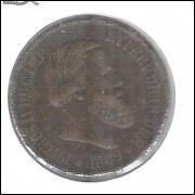 1869 - Brasil-Império, Dom Pedro II, 20 Réis, bronze, bc.