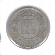 1918 - Brasil, 100 Réis, cuproníquel, mbc.