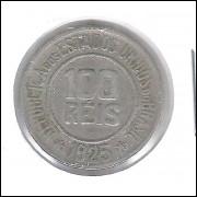 1925 - Brasil, 100 Réis, cuproníquel, mbc.