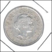 1912 - 500 Réis, prata, mbc, Estrelas ligadas, Brasil-República.