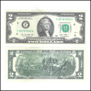 Estados Unidos - 2 Dollars, 2013, FE. Jefferson.