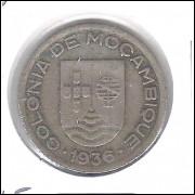 Moçambique (Colônia), 50 Centavos, 1936, cuproníquel, mbc.