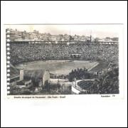 Postal Fotolabor 79 Estádio Pacaembú, Futebol, São Paulo anos 50