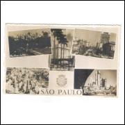 Foto Postal Anos 50 São Paulo 5 Vistas São Paulo.