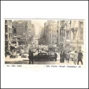 Postal Fotolabor 50 Avenida São João São Paulo, anos 50.