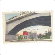 Postal Circulado 1951 Ponte 9 De Julho São Paulo