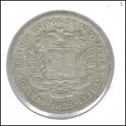 Venezuela 1 Bolivar 1926 Prata .835 - 10g - 27mm