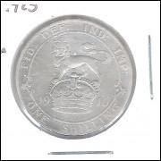 Inglaterra Shilling 1910 Prata 5,6g - 23,5mm Rei Eduardo VII