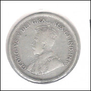Chipre 4 1/2 Piastres 1921 Prata .925 - 2,8 G - 19mm - Km#15