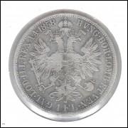 Áustria 1 Florin 1858 A Prata .900 - 12,3g - 29mm