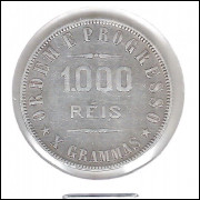 1910 - 1000 Réis, prata, mbc, Brasil-República.
