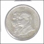 1922 - 2000 Réis, prata, FC, Comemorativa do Centenário da Independência.
