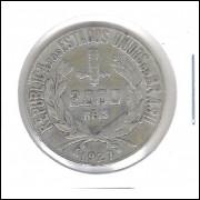 1927 - 2000 Réis, prata, mbc.