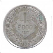1928 - 2000 Réis, prata, mbc.