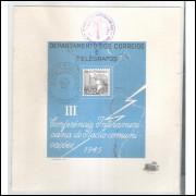 FO10 - 1945 Folhinha Comemorativa III Conferência Interamericana de Radiocomunicações.