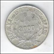 1925 - 2000 Réis, prata, soberba.