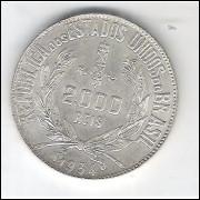 1934 - 2000 Réis, prata, FC.