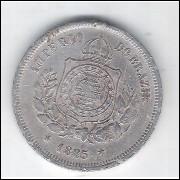 1885 - Brasil-Império, Dom Pedro II, 100 Réis, cuproníquel, bc.