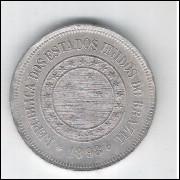 1898 - Brasil, 100 Réis, cuproníquel, Soberba.