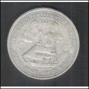 Portugal, 1000 Escudos, 1996, prata, FC. Comemorativa. Caravela, embarcação.