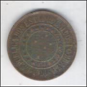 1900 - Brasil, 40 Réis, bronze, soberba