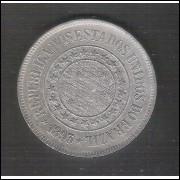 1893 - Brasil, 200 Réis, cuproníquel, mbc/s.