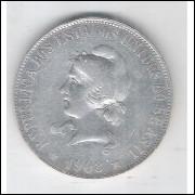 1908 - 2000 Réis, prata, mbc, Brasil-República.