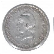 1906 - 2000 Réis, prata, mbc, Brasil-República.