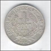 1924 - 2000 Réis, prata, s/fc.