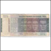 C148 - 500 Cruzeiros, 1972, Série A00023,  Delfin Netto e Ernâne Galvêas.