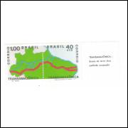 1971 - C-699-700 - Transamazônica: Brasil de terra roxa pedindo ocupação. Par, legenda à direita.